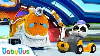★NEW★ SLマンが動かないよ! | 修理屋さんごっこ | 赤ちゃんが喜ぶアニメ | 動画 | BabyBus thumbnail