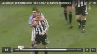 Lee Bowyer and Kieron Dyer make history as fighting teammates