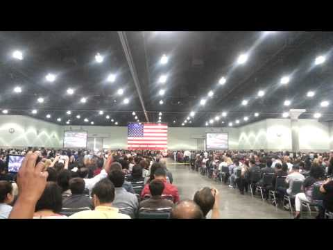 Rosario's American citizenship swearing in ceremony at the L.A. Convention Center