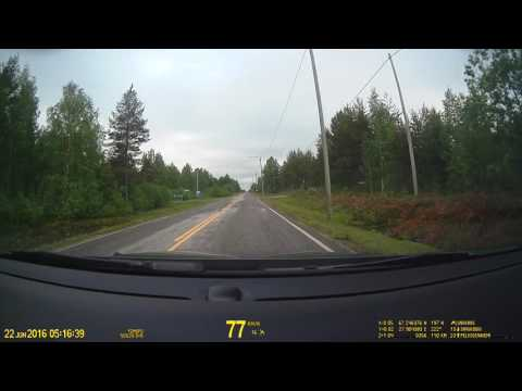 Finland. Drive from Savukoski towards Sodankylä. Regional Road 965