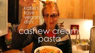 """Vegan Recipe: Tomato Basil """"cream"""" Pasta (cashew Cream!)"""