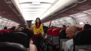 Funniest safety briefing ever with sexy Thai flight attendant!!! Air Asia AK-1922