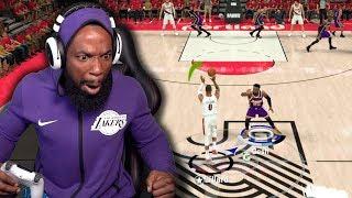 Damian Lillard Half Court Buzzer Beater! Lakers vs Blazers Playoff Game 3! NBA 2K20 Ep 30