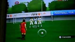 Fifa 11 wii free kick tutorial (Advanced)
