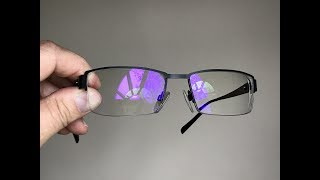 Eyeglasses have a purple reflection?  Here's why (don't get these coatings!)