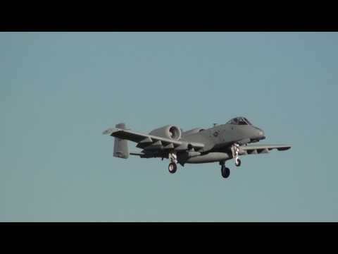 U.S Air Force Fairchild A-10C Thunderbolt II (81-0980) Landing Moron Air Base LEMO (DM)