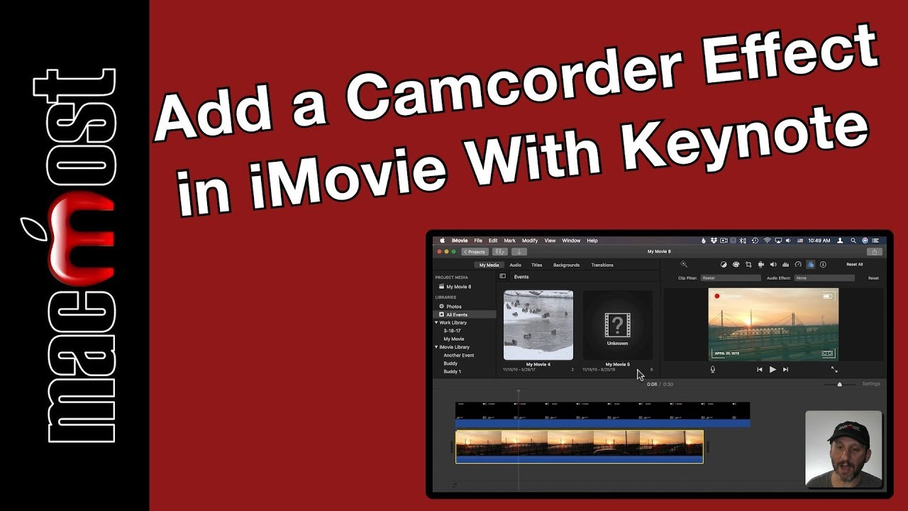 Add a Camcorder Effect in iMovie With Keynote (MacMost #1902)