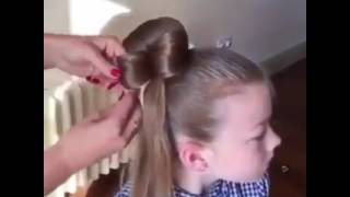 Прическа-бантик для девочки