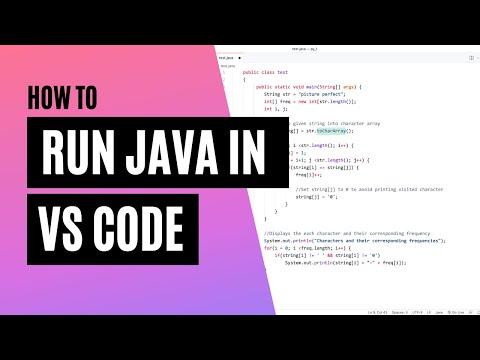 Compile / Run JAVA Program In VS Code