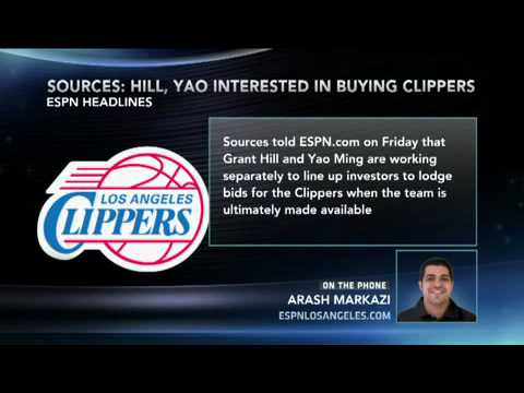 Grant Hill & Yao Ming Interested In Buying Clippers : LA Clippers Sale