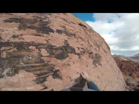 "Climbing ""Big Bad Wolf"" in Red Rock Canyon"