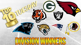 2016-17 NFL Division Winner Predictions | Top 10 Tuesday