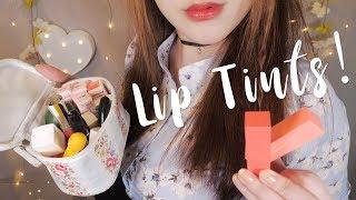 ASMR Korean Lip Tints 💄립제품 소개 & 발라주기