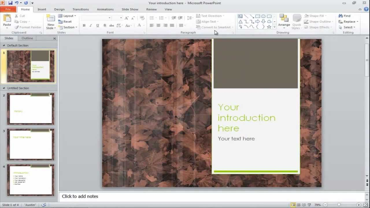 How to change the slide backgrounds in powerpoint youtube toneelgroepblik Images