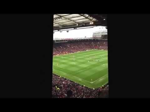 Manchester United fans clap and chant rio Ferdinand name. And the west brom fans.