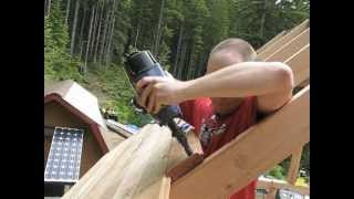 Building Off Grid Cabin Loft