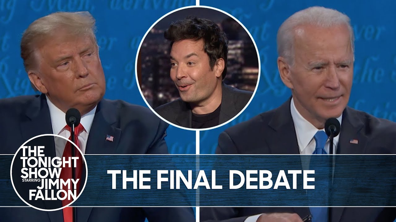 Trump and Biden Face Off In Final Debate | The Tonight Show