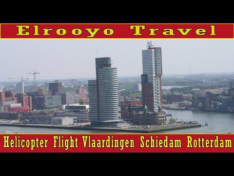 Helikoptervlucht boven Rotterdam