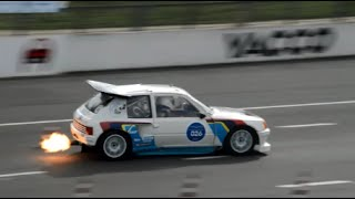 Peugeot 205 turbo 16 group b on track! with backfires!!!