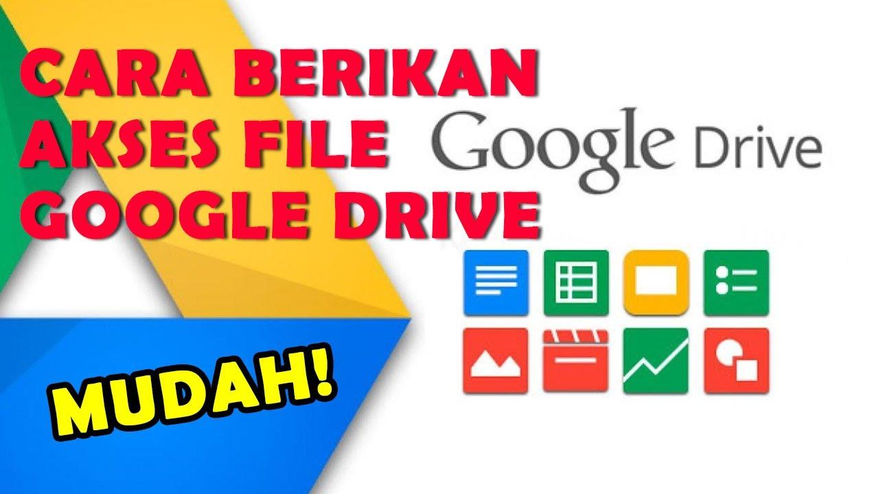 Cara Membagikan Akses File di Google Drive kepada Pengguna ...