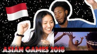 reaksi orang korea reaksi official songs 18th asian games 2018 mash up alffy rev