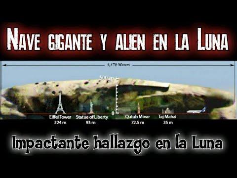 Alienigena y nave gigante encontradas en la Luna junto a bases secretas , impactante hallazgo