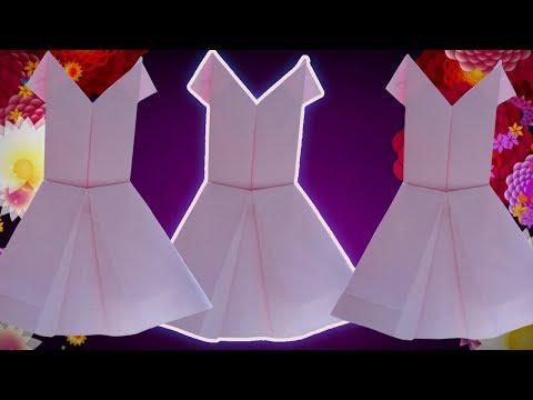 How To Make Origami A Paper Dress   DIY Building Clothes Art By A Paper Video