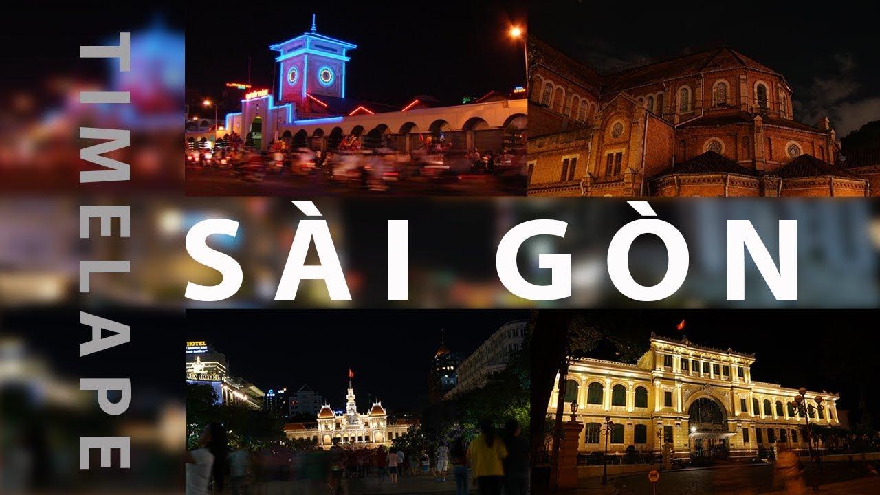 SÀI GÒN Đêm Hòn Ngọc Viễn Đông xưa - Tp Hồ Chí Minh nay TimeLapse | Sài Gòn đô thị ánh sáng | ZaiTri