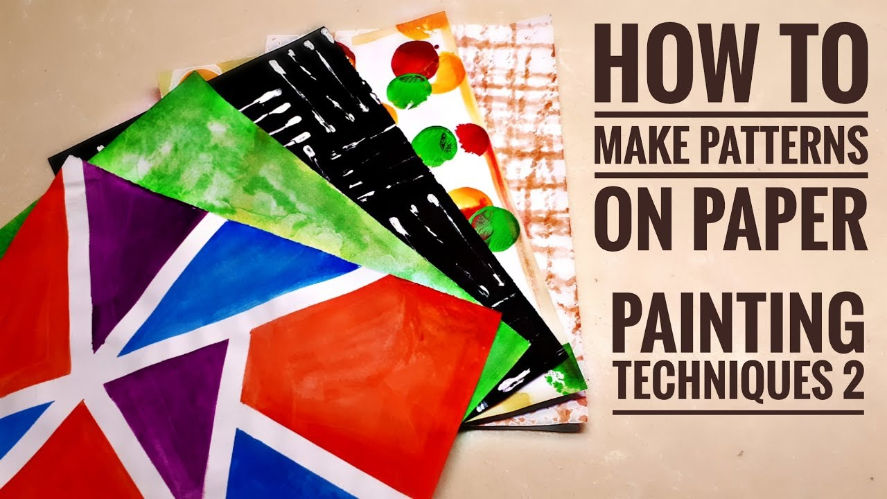 DIY Printed Papers #2 | Painting Techniques | How to make ...
