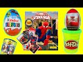 Ultimate Spider-Man Sticker Album & Sticker Packs Toy Review Opening Panini & Kinder Surprise Eggs