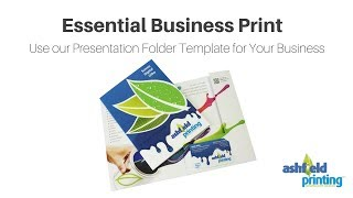 Essential Business Print – Use our Presentation Folder Template for Your Business