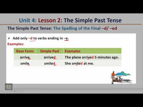 Grammar U 4 -  L 2 : The Simple Past Tense