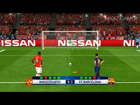 MANCHESTER UNITED vs FC BARCELONA | Penalty Shootout | PES 2017 Gameplay