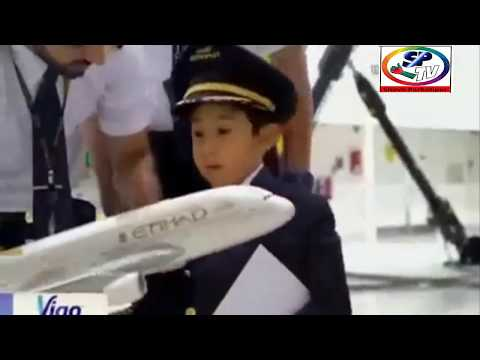 WORLD's YOUNGEST AIRPLANE PILOT - adam mohammed amer - Six year old boy pilot - Adam Etihad Airline