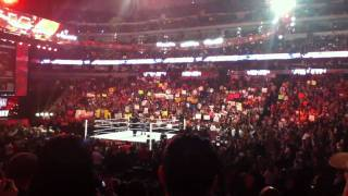 WWE JOHN CENA RAPS ABOUT THE ROCK LIVE FINAL KNOCK OUT