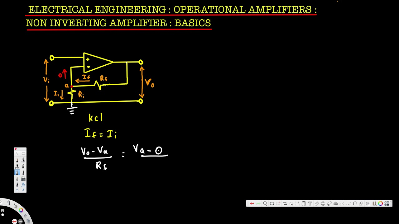 Electrical Engineering Operational Amp Non Inverting Amplifier Basics Electronics 1