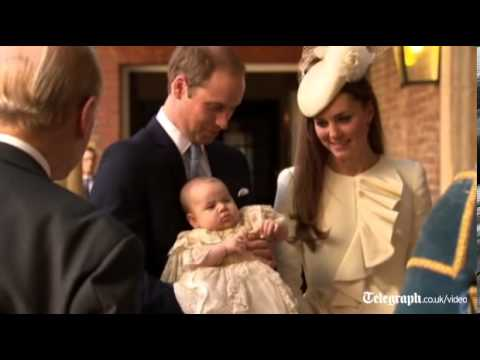 Prince George arrives for christening at St James's Palace