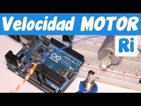 Controlar VELOCIDAD Motor Corriente Continua