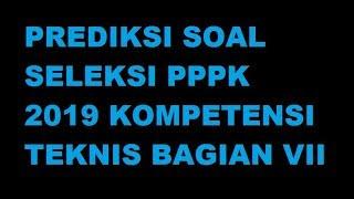 PRED KS  SOAL SELEKS  PPPK 2019 KOMPETENS  TEKN S BAG AN V