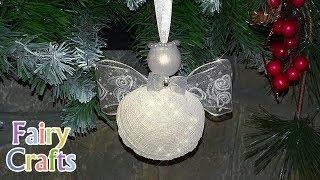 Рождественский ангел своими руками ❅ Мастер-класс ❅ DIY ❅ Seashell Angel Christmas Ornaments