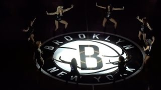 Cheerleaders & Introduction of Brooklyn Nets starting five vs. Raptors - 1/6/2016