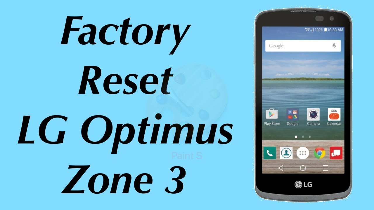 Factory Reset LG Optimus Zone 3 Verizon Wireless Model VS425LPP |  NexTutorial