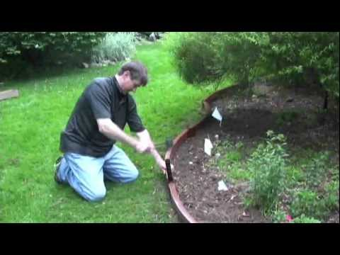 Curved Landscaping Edging Youtube