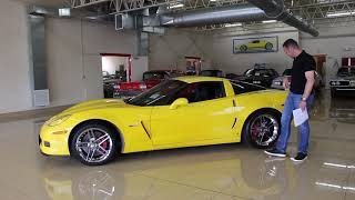 '06 Chevrolet Corvette Z06 for sale with test drive, driving sounds, and walk through video