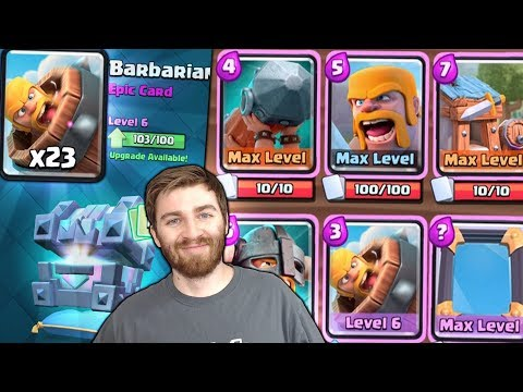 NEW BARBARIAN BARREL ALL BARBARIAN DECK GAMEPLAY! | Clash Royale MAX BARBARIAN BARREL HUNT!