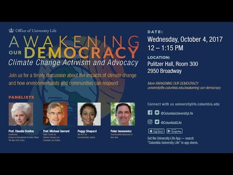 Awakening Our Democracy - Climate Change Activism and Advocacy