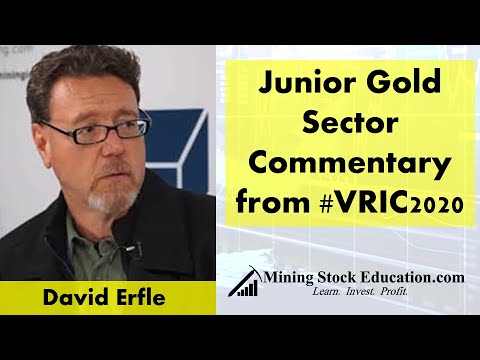 Junior Gold Sector Commentary By David Erfle From The Vancouver Resource Investment Conference
