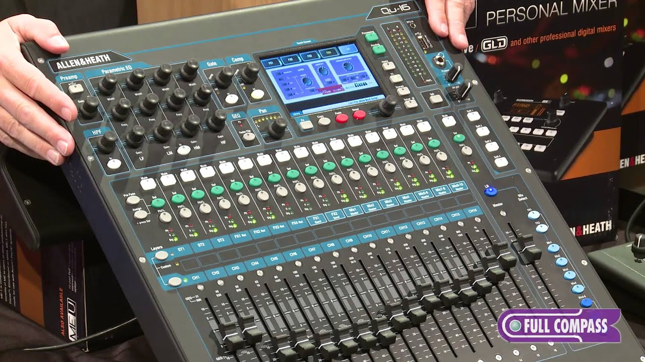allen heath qu 16 rackmountable digital mixer overview full compass youtube. Black Bedroom Furniture Sets. Home Design Ideas