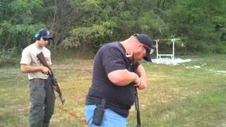dueling full auto ak47 s