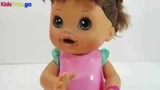Toys R-US - Baby Alive Potty Training Baby Doll Eating Food Feeding Baby Doll Toy Videos - Baby